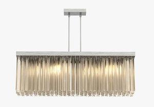 chandelier rectangular 3d model