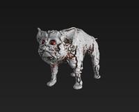 3d cyber cat rusty pbr model