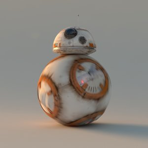 3d model of bb8 robot