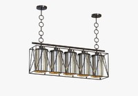 pendant marmande rectangular chandelier 3d model