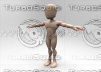 editable character 3d obj