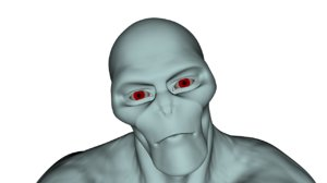 realistic rigged alien character 3d model