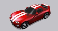 Dodge Viper GTS Low Poly Car