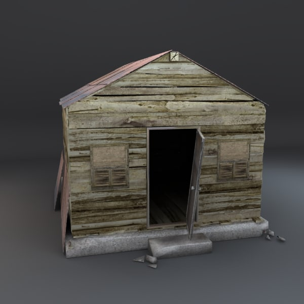 old abandoned shack 3d model
