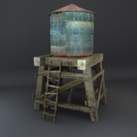 3d model of old water tower