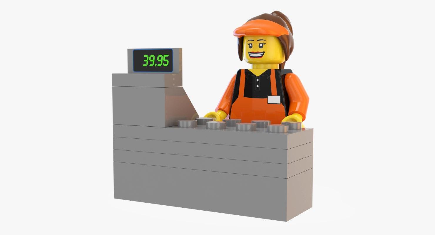 lego cashier 3d max