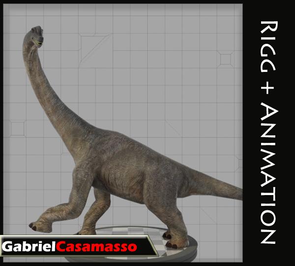 brachiosaurus brachiosaur 3d x