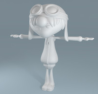 cartoon teenage boy 3d model
