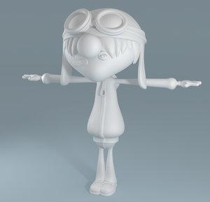cartoon teenage boy 3d model
