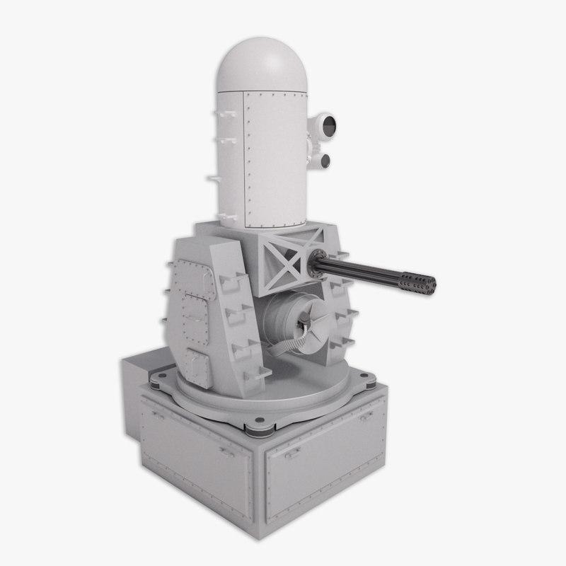 3d phalanx close weapon model
