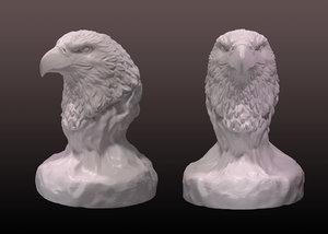 eagle bust 3d model