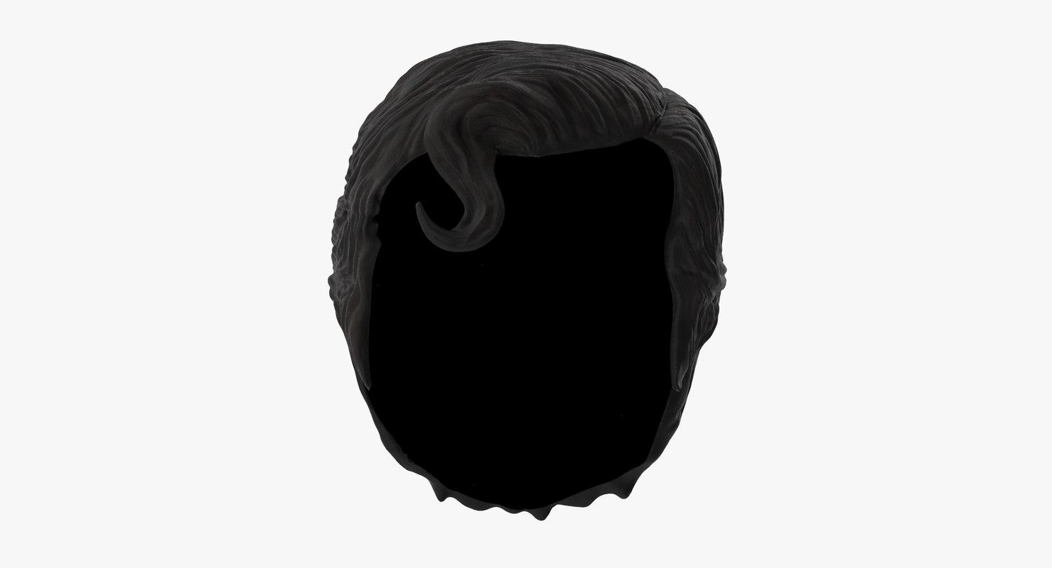 3d superman hair model