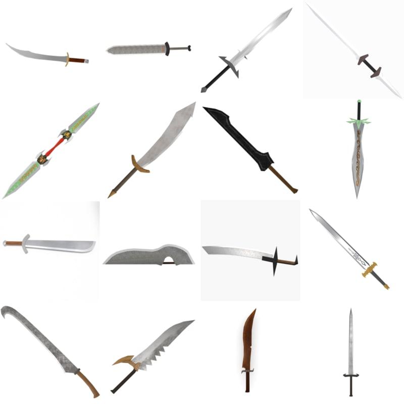 akinak sword 3d fbx