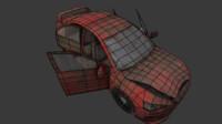 3d model broken car