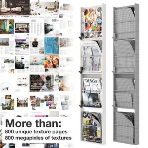 modern magazine rack 3d max