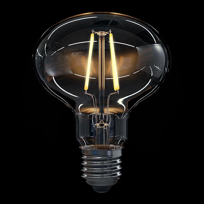 3d 3ds led filament bulb lights