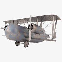 3d model of ww1 airbomber
