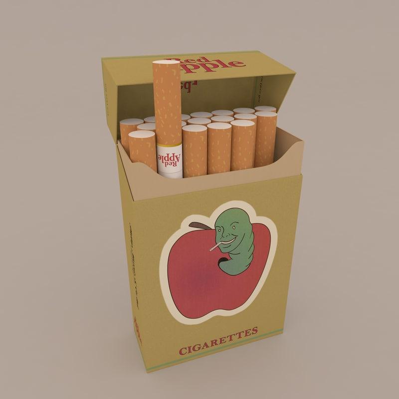 c4d pack red apple cigarettes