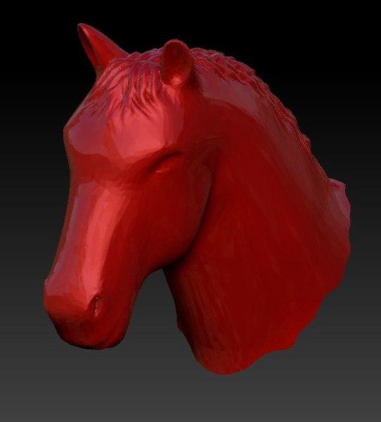 horse head 3d model