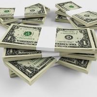 dollar banknotes 3d max