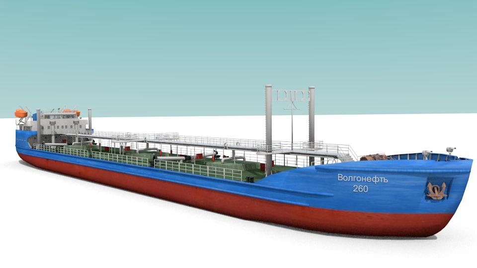 oil ship 3d model