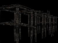 3d wooden catwalk wood
