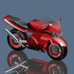 motorcycle 3d max
