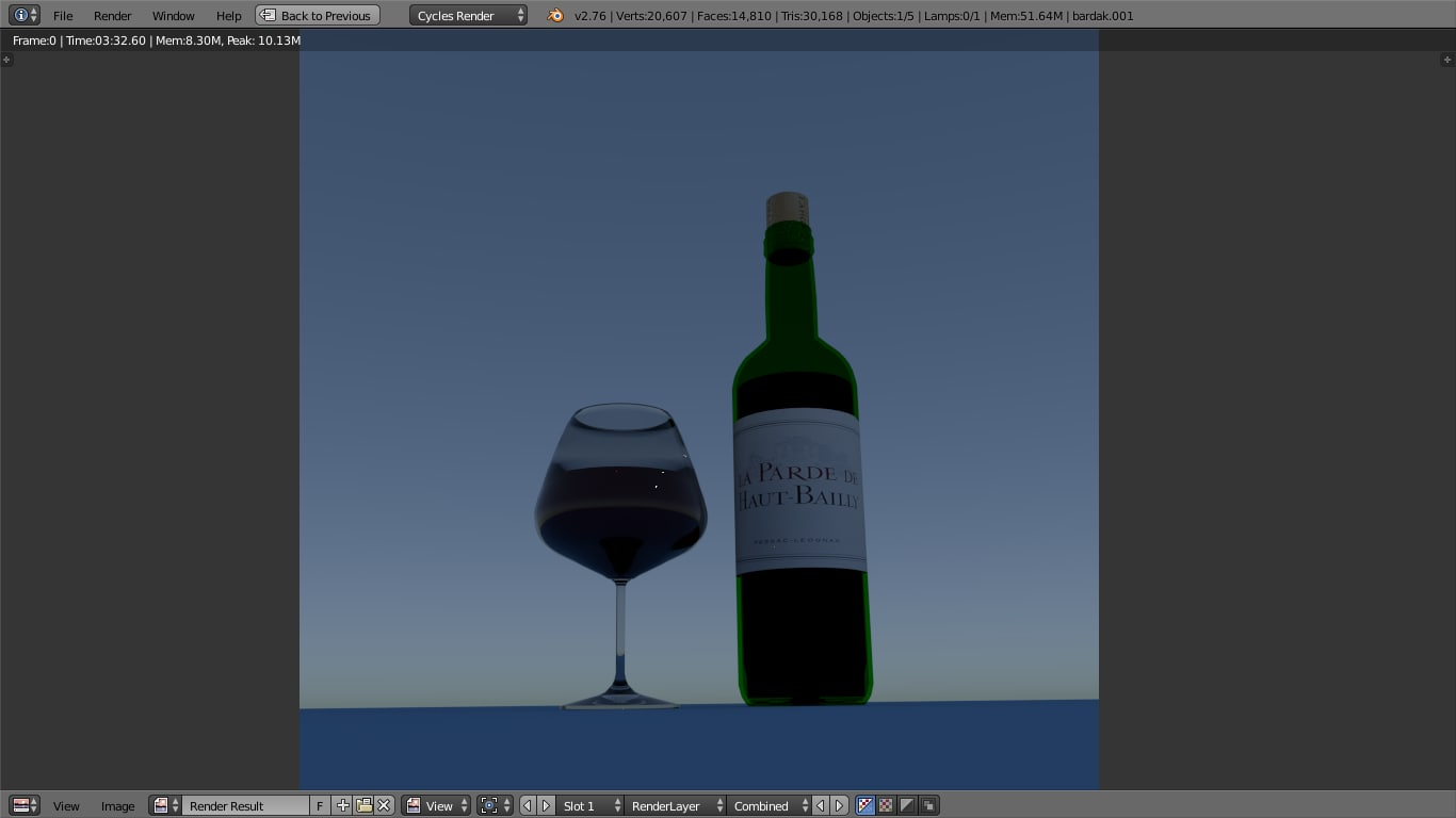 red wine bottle glass 3d model