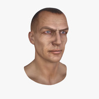 male head 3d max