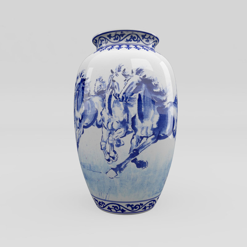 chinese blue white horses max