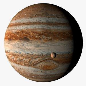c4d jupiter moons 4k planet