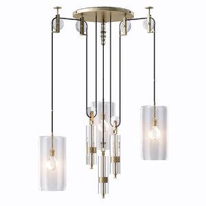 counterweight chandelier light 3d 3ds