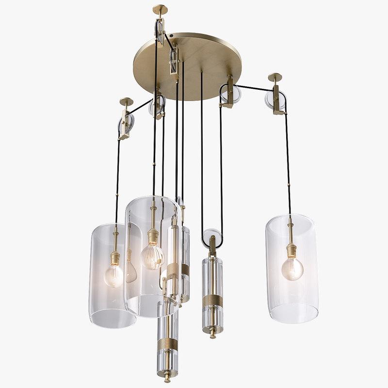 Counterweight chandelier light 3d 3ds aloadofball Images