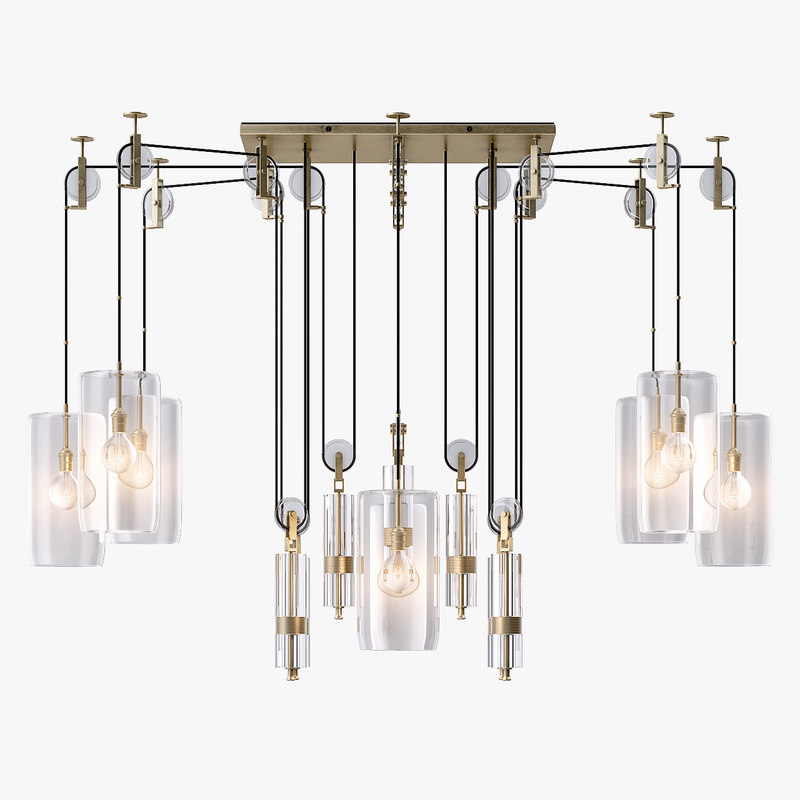 counterweight chandelier light 3d ma