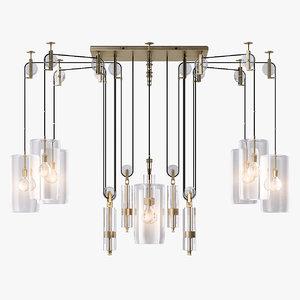 counterweight chandelier light 3d ma