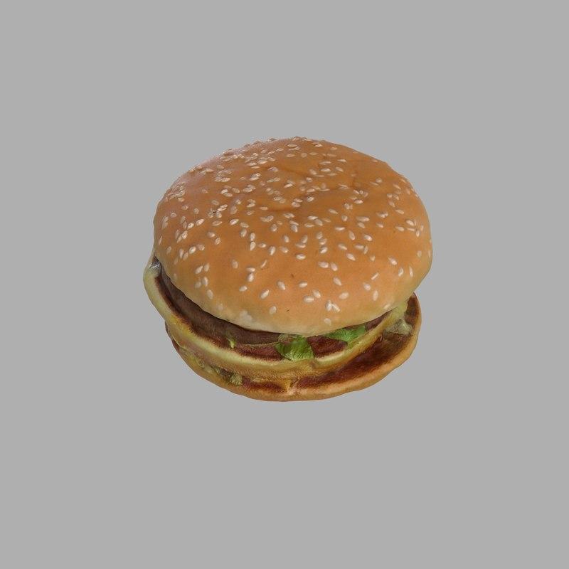 3d burger bigmac