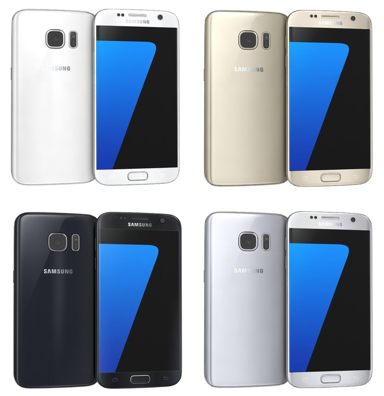 samsung galaxy s7 colours 3d max
