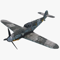 rigged messerschmitt bf109 yellow max