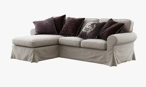 3d model of ikea ektorp two-seat sofa chaise