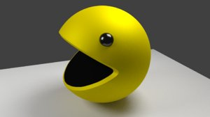 free simple pac-man 3d model