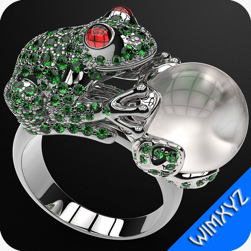 ring frog jewelry 3d 3ds