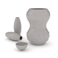 free decorative vase 3d model
