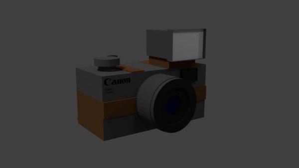 vintage camera 3d fbx
