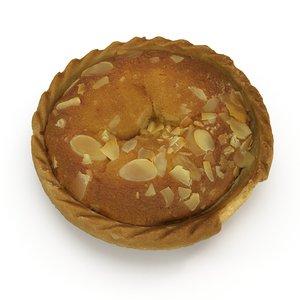 3d bakewell tart model