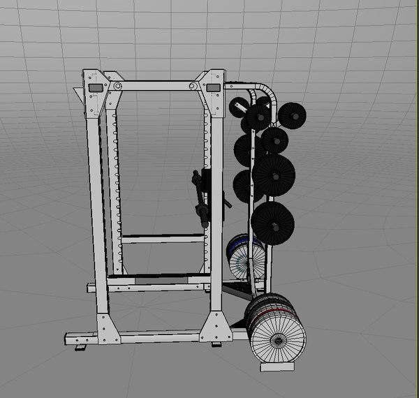 weight lifting rack 3d max