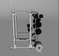 weight lifting rack 3d max