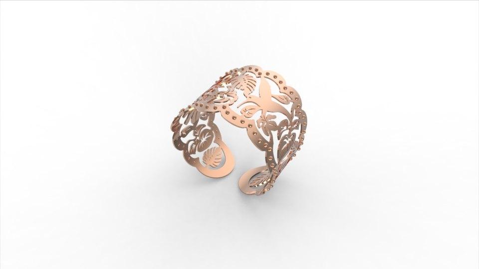 flora ring jewel 3d obj