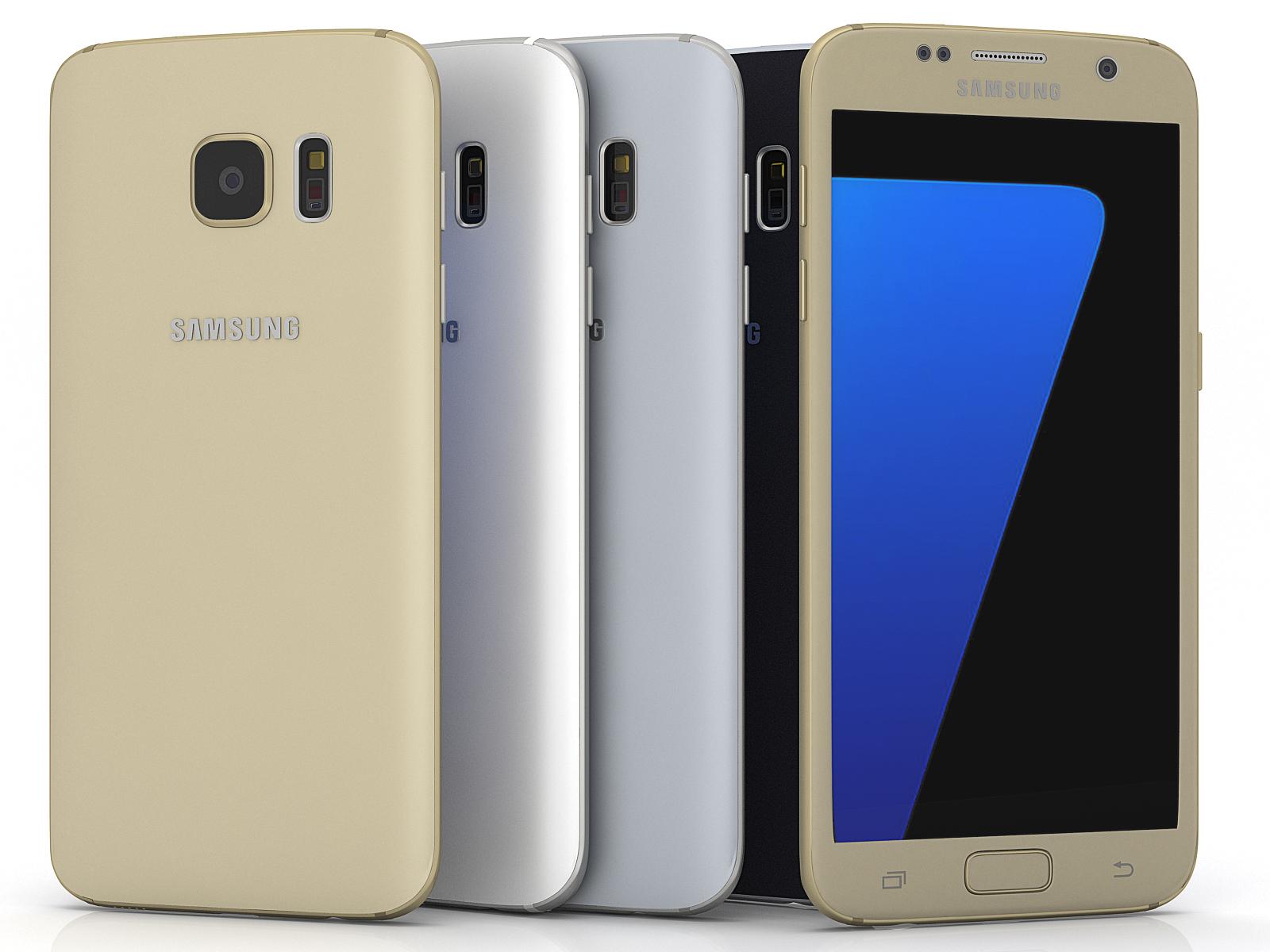 Modelo 3d Samsung Galaxy S7 Todos Los Colores Gratis