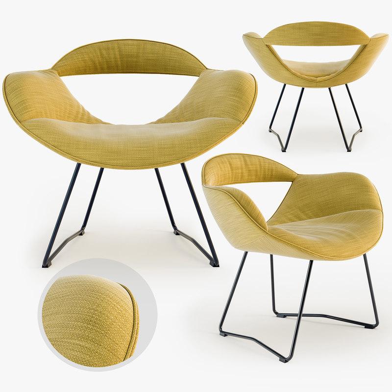 3d walter knoll rumi chair