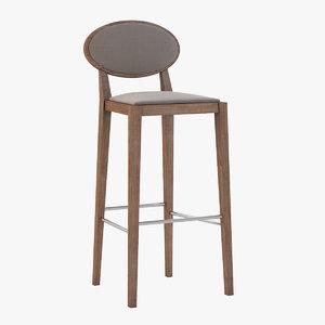 3d model of bar stool andreu